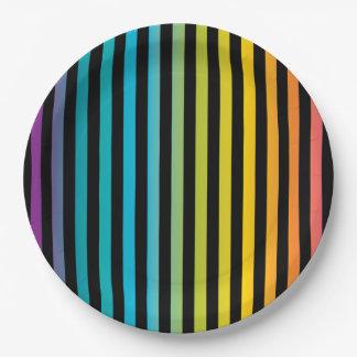 Prato De Papel Design colorido 6 da forma na moda brilhante de