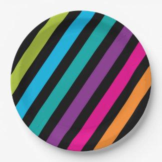 Prato De Papel Design colorido 7 da forma na moda brilhante de