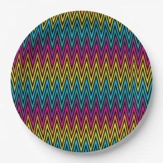 Prato De Papel Design colorido 8 da forma na moda brilhante de