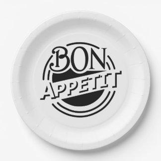 Prato De Papel Design de Appetit do Bon