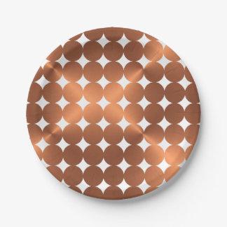 Prato De Papel Design de cobre dos pontos do falso
