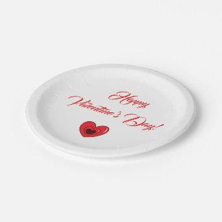 """Prato De Papel Design do coração da placa de papel (7"""") -"""