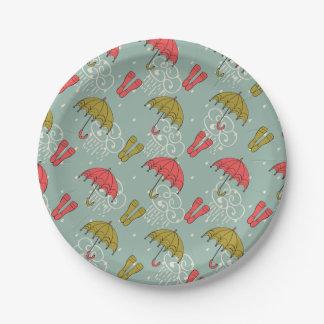 Prato De Papel Design do guarda-chuva da estação das chuvas
