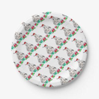 Prato De Papel Design do Natal do zen