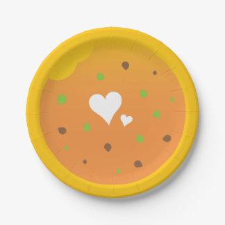 Prato De Papel Design do partido da páscoa da comida do amor