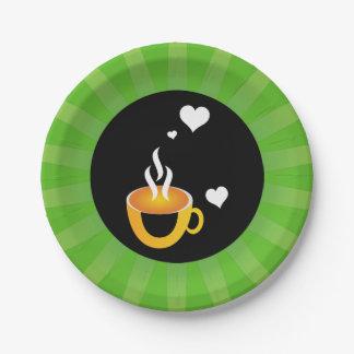 Prato De Papel Design impressionante super do amor do café