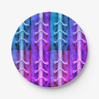 Prato De Papel Design industrial Miami do abstrato das cores do
