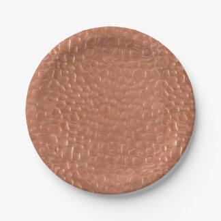 Prato De Papel Design martelado do cobre-olhar