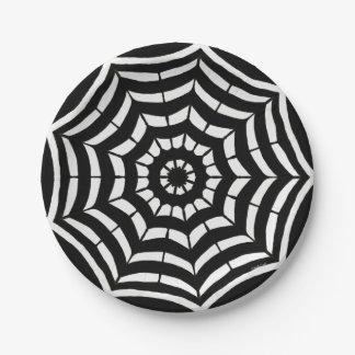 Prato De Papel Design preto e branco das placas de papel