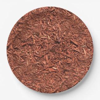 Prato De Papel detalhe a imagem do mulch do cedro vermelho para o