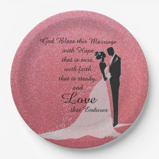 Prato De Papel Deus abençoe este casamento