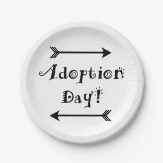 Prato De Papel Dia da adopção! Adoptivo/adote o design