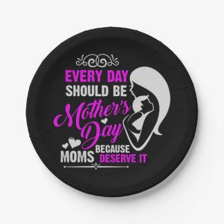 Prato De Papel Dia das mães