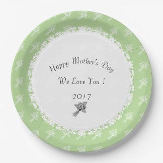 Prato De Papel Dia das mães--Anniversary-Template_Roses-Green
