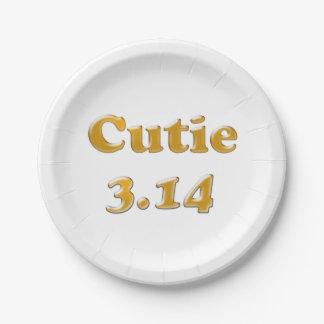 Prato De Papel Dia de Cutie 3,14 Pi