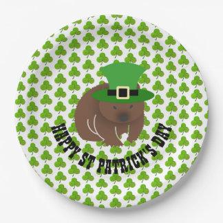 Prato De Papel Dia de São Patrício Wombat