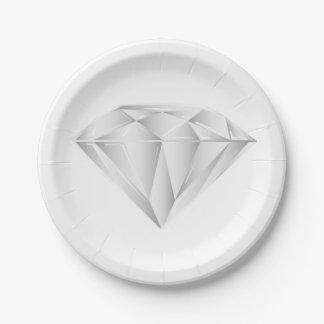 Prato De Papel Diamante branco para meu querido