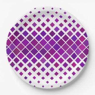 Prato De Papel Diamantes violetas