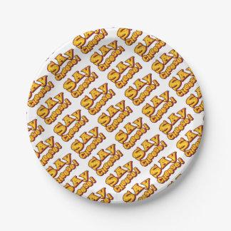 Prato De Papel diga o queijo!