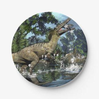 Prato De Papel Dinossauro de Austroraptor