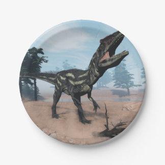 Prato De Papel Dinossauro do Allosaurus que ruje - 3D rendem