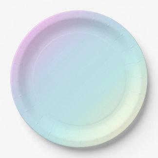 Prato De Papel Divertimento & rosa Pastel moderno, azul, verde,