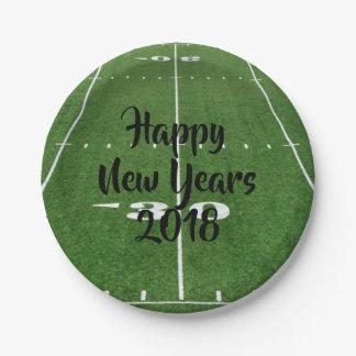 Prato De Papel Do feliz ano novo campo 2018 de futebol