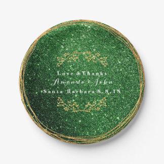 Prato De Papel Do ouro verde das hortaliças de Cali casamento