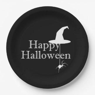 Prato De Papel Do partido feliz do Dia das Bruxas da bruxa placas