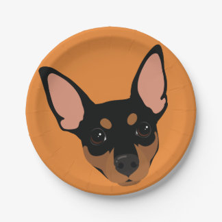 Prato De Papel Do retrato mínimo do Pin do Pinscher diminuto