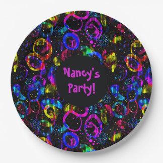Prato De Papel Doce como a placa feita sob encomenda colorida do