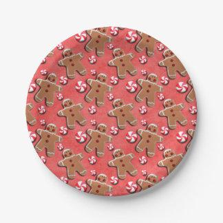 Prato De Papel Doces dos biscoitos do pão-de-espécie vermelhos