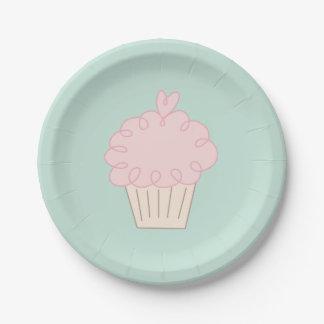 Prato De Papel Doodle do cupcake