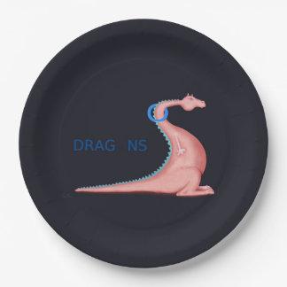 Prato De Papel Dragões
