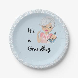 Prato De Papel É uma placa da avó do menino