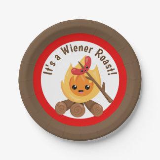 Prato De Papel É uma placa do partido do assado de Wiener