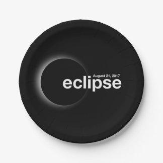 Prato De Papel Eclipse 2017 solar total