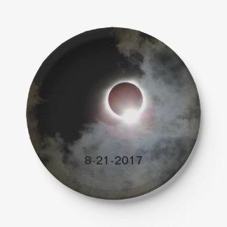 Prato De Papel Eclipse solar 21 de agosto de 2017
