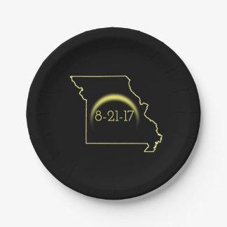 Prato De Papel Eclipse solar total Missouri 2017