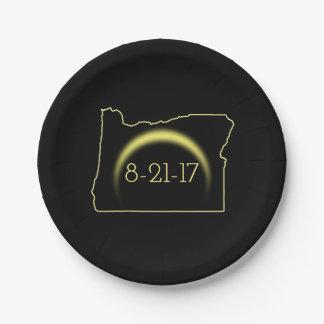 Prato De Papel Eclipse solar total Oregon 2017