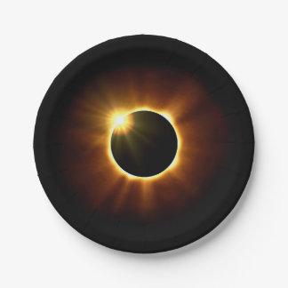 Prato De Papel Eclipse solar total - placas