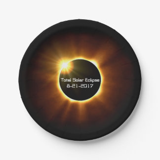 Prato De Papel Eclipse solar total - placas