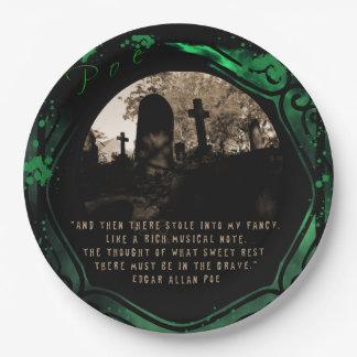 Prato De Papel Edgar Allan Poe