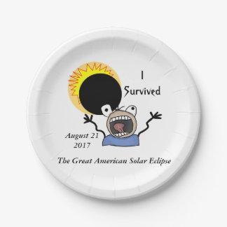 Prato De Papel Edição da sobrevivência do eclipse 2017 solar