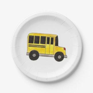 Prato De Papel Educação amarela grande do motorista do professor