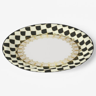 Prato De Papel Elegant-French-Celebration-Classic_Paper-Plates
