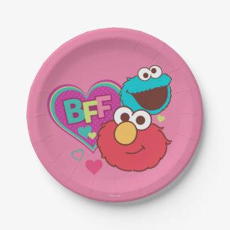 Prato De Papel Elmo & monstro do biscoito - BFF