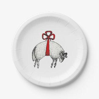 Prato De Papel Emblema unido heráldico da crista dos carneiros da
