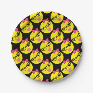 Prato De Papel Emoji pisc feminino
