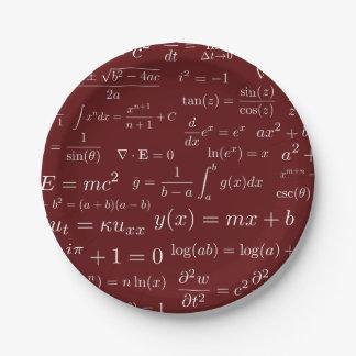 Prato De Papel Equações das placas de papel da matemática e da